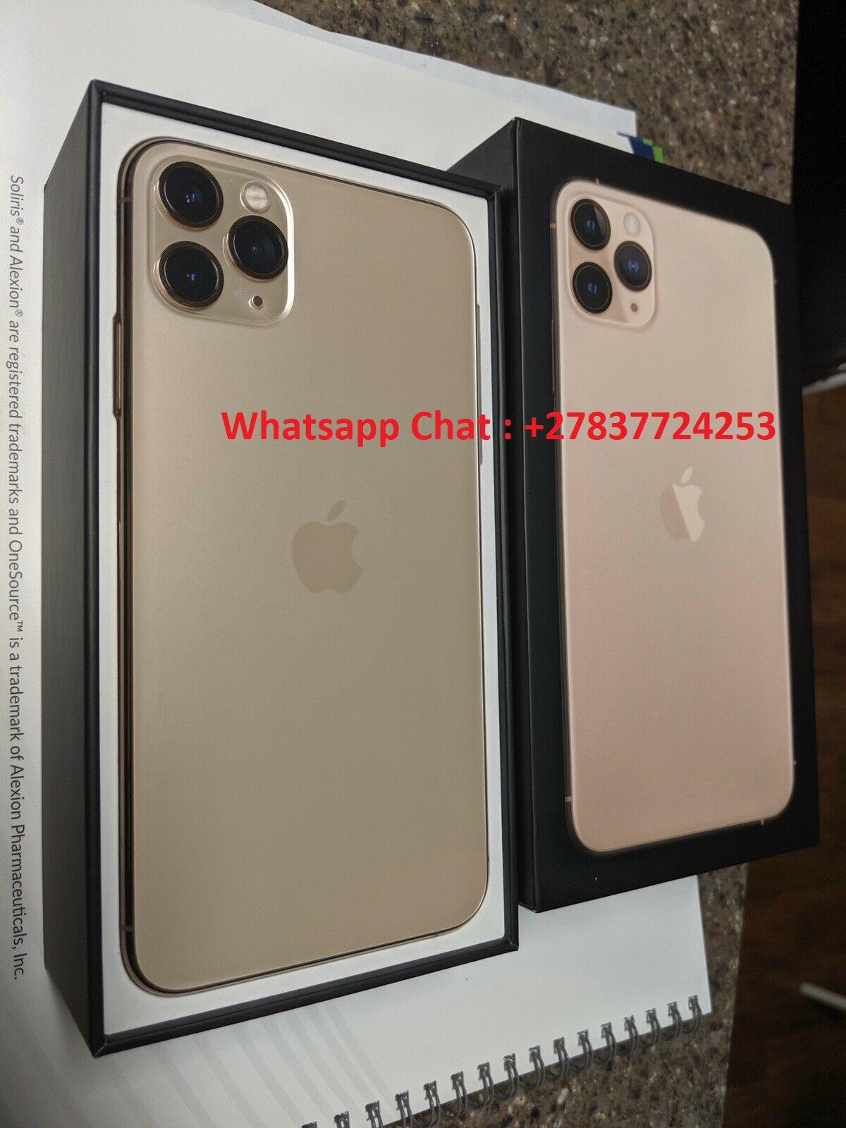 Apple iPhone 11 Pro 64GB = $600, iPhone 11 Pro Max 64GB = $650, iPhone 11 64GB = $470, iPhone XS 64GB = $450 , iPhone XS Max 64GB = $480 , Whatsapp Chat : +27837724253